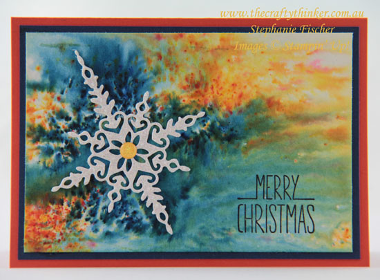 #thecraftythinker, #christmascard, #cardmaking, #brushocrystals, Christmas card, Brusho Crystals, Starlight, Stampin' Up Australia Demonstrator, Sydney NSW