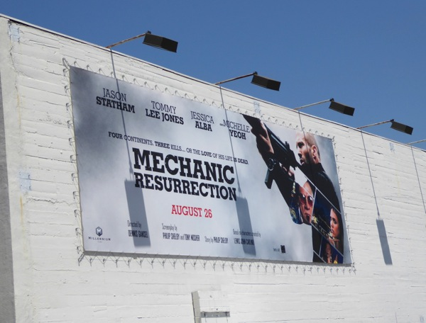 Mechanic Resurrection movie billboard