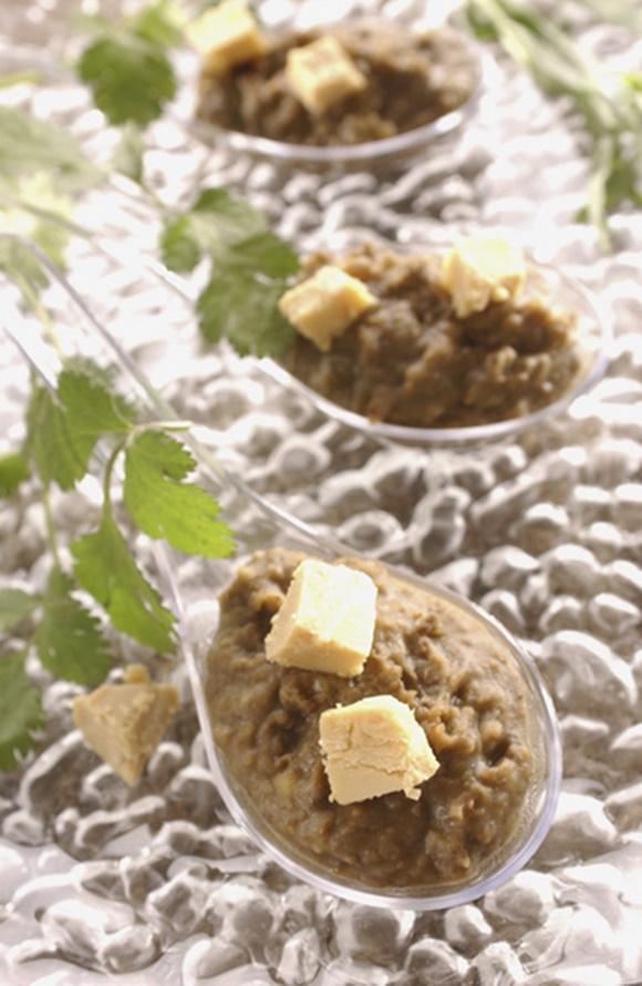 Bouchées De Lentilles Et Dés De Foie Gras