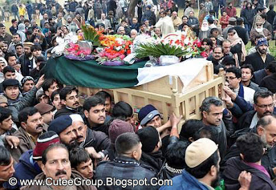 In her honour Crowds gather in the streets as Arfa Karim Randhawa's body was taken to her native village Ram Dewali Faisalabad for burial