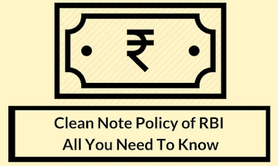 clean note policy of RBI