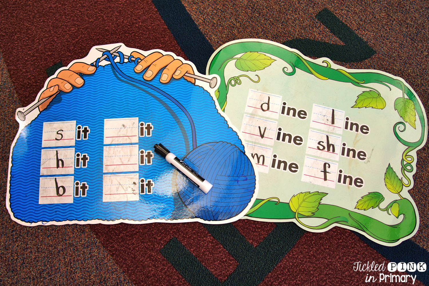 Word Family Mats from Lakeshore - Working on Word Families