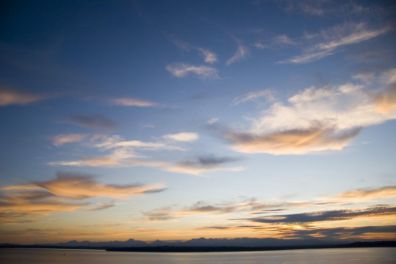 Shoreline Area News Photo Blue Sky Sunset, Orange Clouds