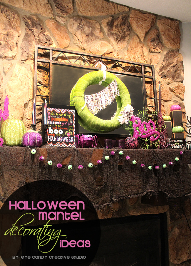 halloween mantel decorating ideas, how to decorate your halloween mantel