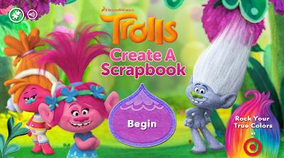 Create a Trolls Scrapbook