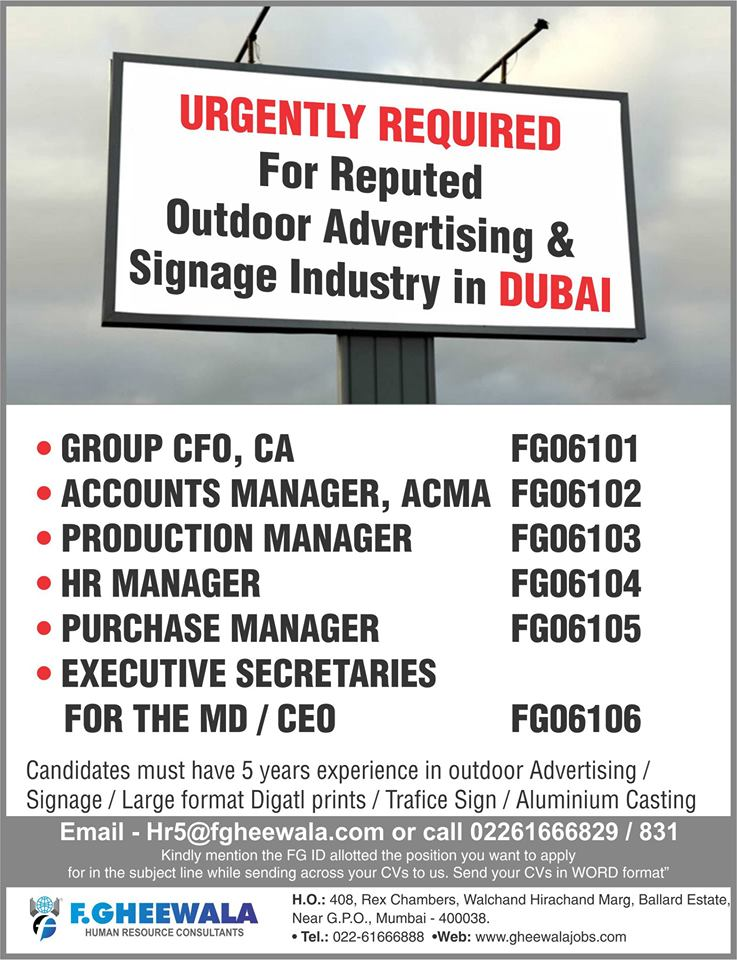 Outdoor Advertising and Signage Industry in Dubai