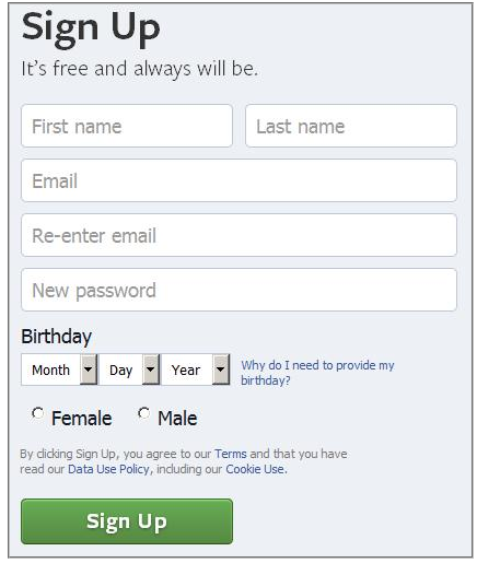 My Facebook Login Sign in