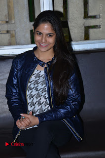 Actress Nanina Ganguly Stills in Black Tights with Vangaveeti Movie Team at Devi Theater  0029.JPG