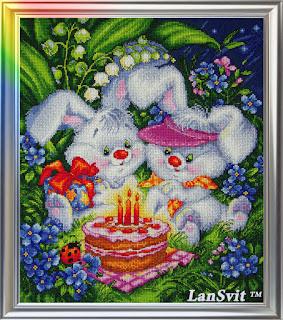 "Cross-stitch LanSvіt D-005 ""We are both happy"""