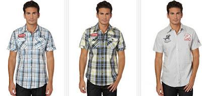 Camisas para hombre de manga corta