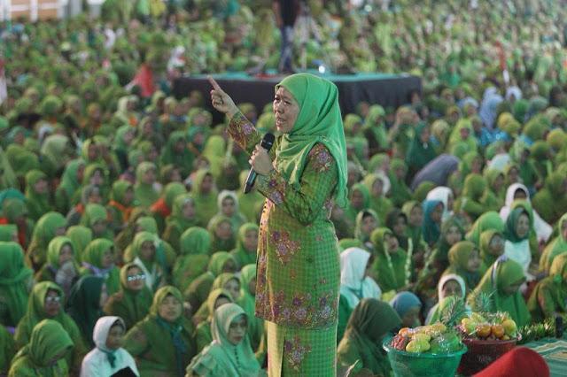 2000 Polwan Berjilbab Amankan Harlah Muslimat NU di GBK