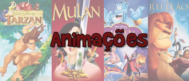 capas dos filmes de animação da disney