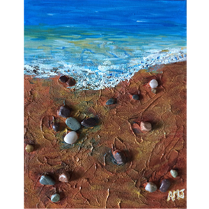 "PEBBLE BEACH- 5""X7"" ART CARD"