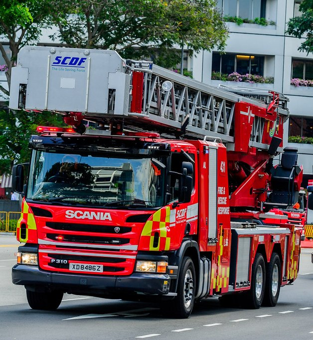 The SCDF said one worker was saved using an aerial appliance.