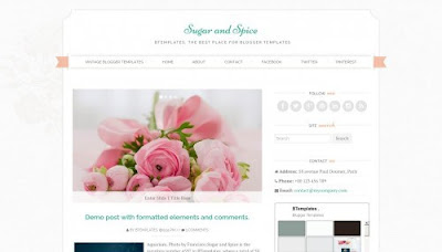 Sugar and Spice Free Blogger Template