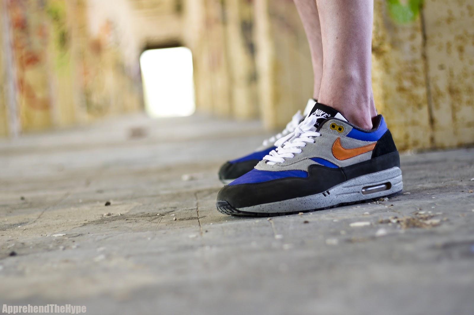 1b965ff0dd apprehend the hype: Nike Air Max 1 - Skull Pack / Blue / Orange