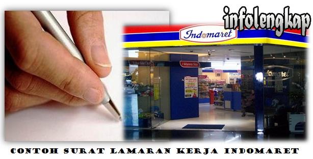 Contoh Surat Lamaran Kerja Indomaret Seluruh Indonesia Info Lengkap