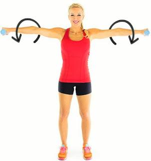 cara membentuk otot bahu lebar dan kokoh di rumah dengan arm circle