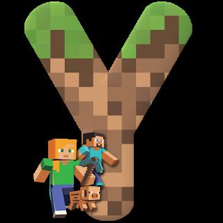 Abecedario con Personajes de Minecraft. Minecraft Characters Alphabet.