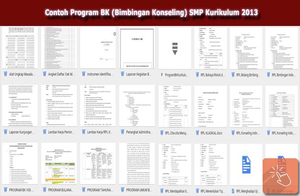 Contoh Program BK (Bimbingan Konseling) SMP Kurikulum 2013