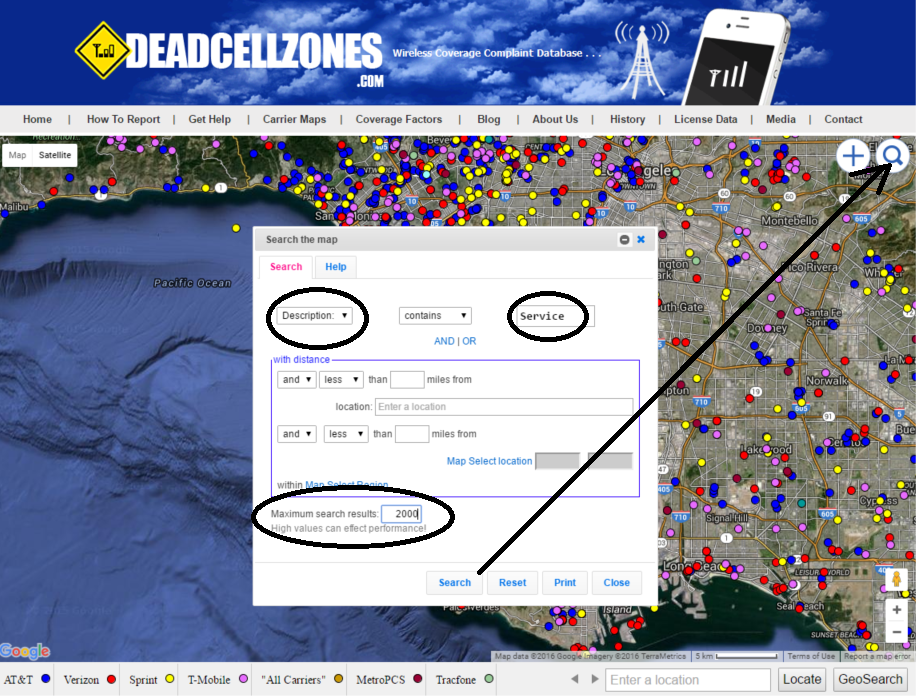 How To Search Dead Zones Database Map