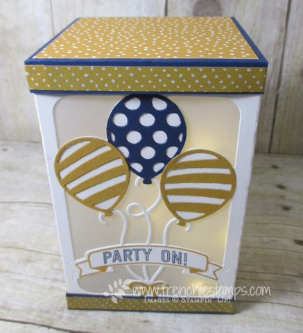 "Window Box, Balloon Adventure, Balloon Pop Up Thinlits, Stampin""up! Frenchiestamps live"