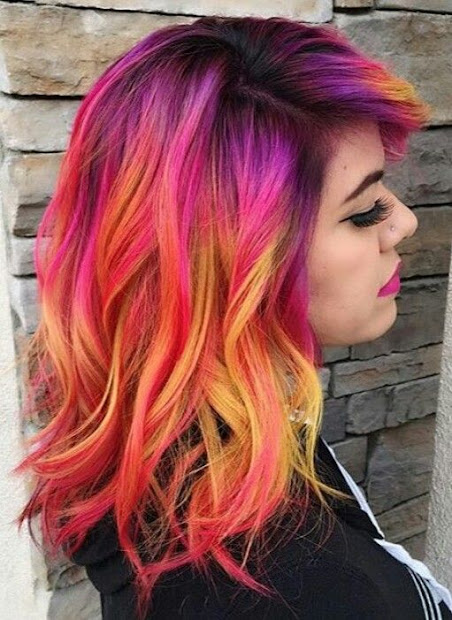 colorful hair inspiration - omg