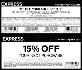 free Express coupons february 2017