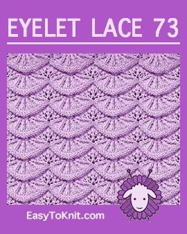 #Knit Eyelet Lace Pattern