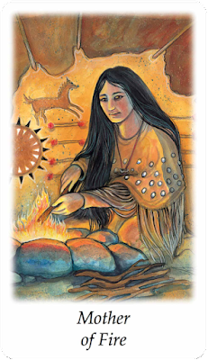 Vision Quest Tarot Mother of Fire