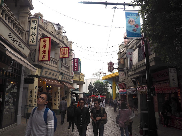 Buildings in Old Hong Kong street - Ocean Park, Hong Kong