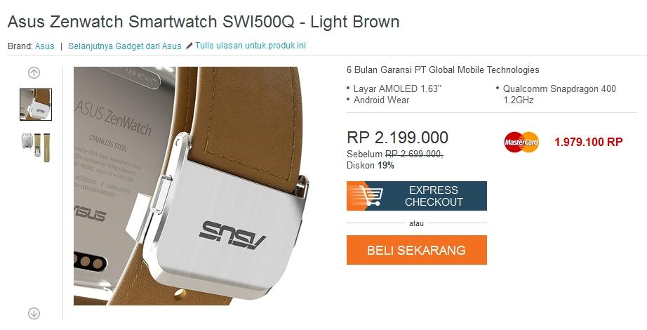 Harga ASUS Zenwatch Smartwatch SWI500Q Review, Spesifikasi, Kelebihan & Kekurangan