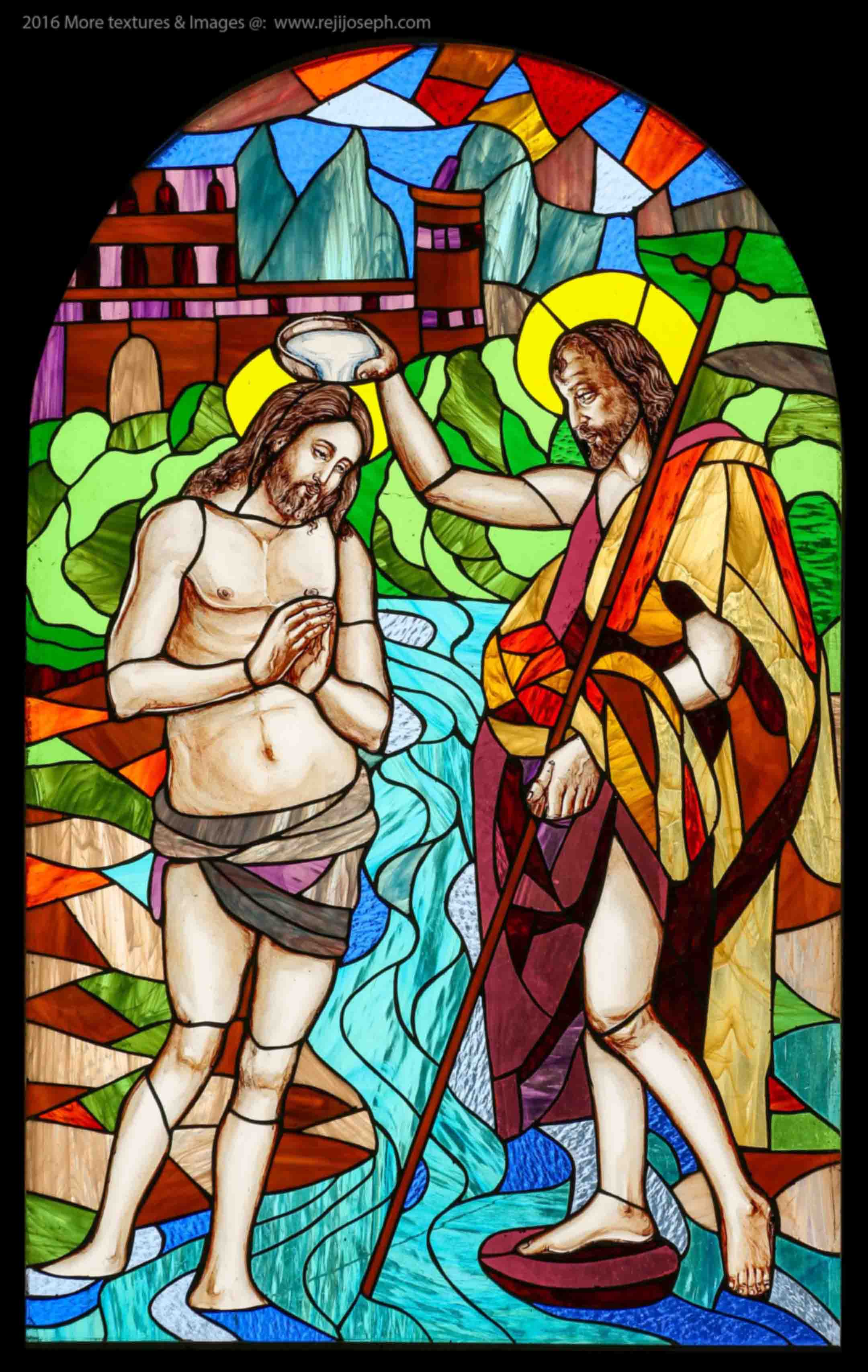 Stained Glass art Baptism 001