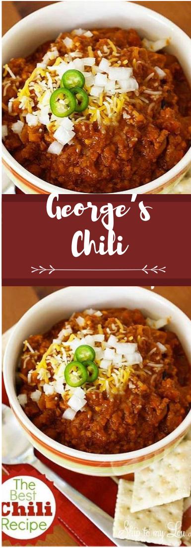GEORGE'S CHILI #chili #food