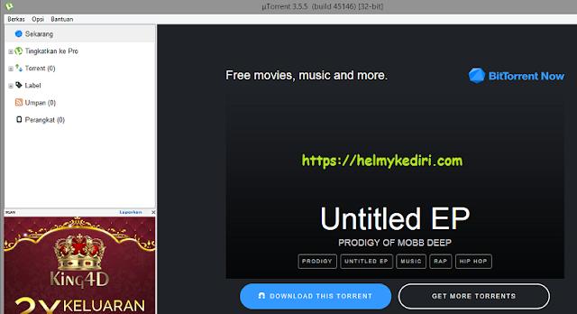 menggunakan utorrent