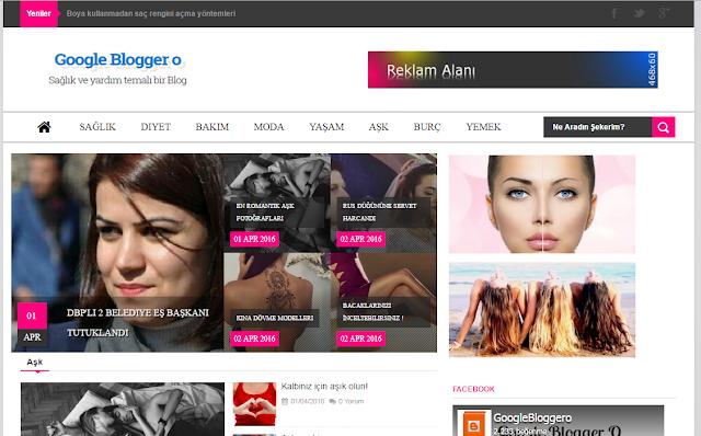 Blogger Türkçe magazin ve moda teması