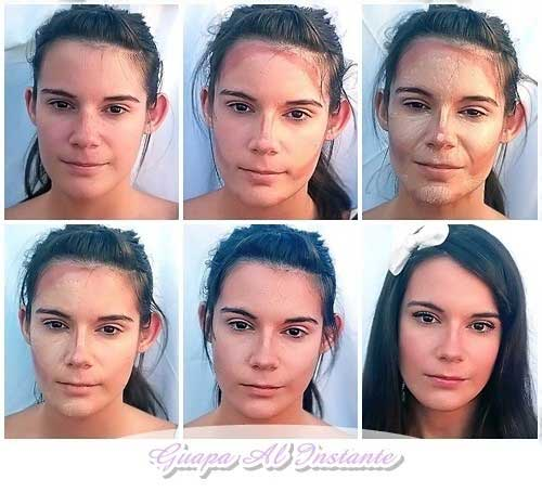 Tecnica del contouring tutorial facil paso a paso - Como maquillarse paso apaso ...