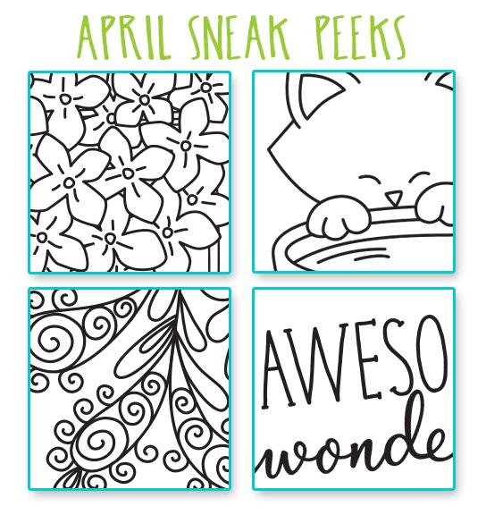 SNEAK PEEKS for April 2017 Release | Newton's Nook Designs #newtonsnook