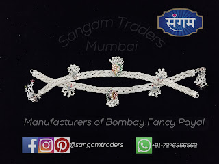 silver fancy payal for ladies