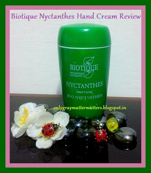Biotique Bio Nyctanthes Hand Cream Review