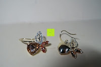 Erfahrungsbericht: Neoglory Jewellery 14 K gold mit Swarovski® Elements Ohrringe Schmetterling gelb
