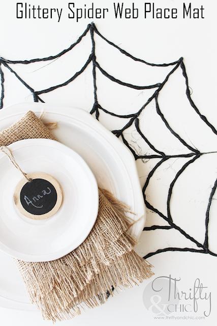 闪闪发光的蜘蛛网放置使用热胶!