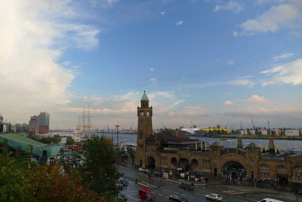 Aussicht, Hafen, Hamburg, Erholung, Hotel, Platz, Schiffsbahnhof