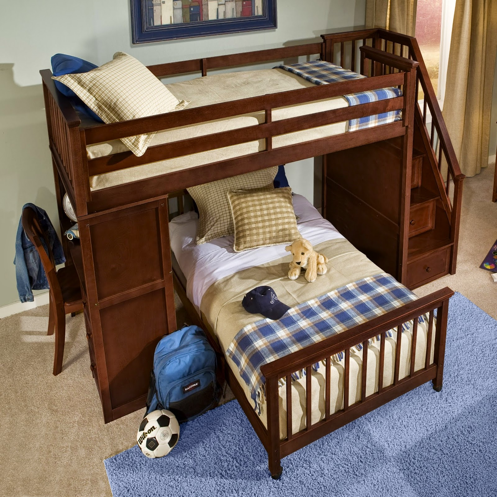 3 Double Bed With Chest And Stairs