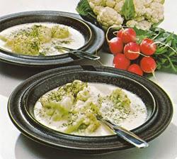 Žiedinių kopūstų sriuba su grietine