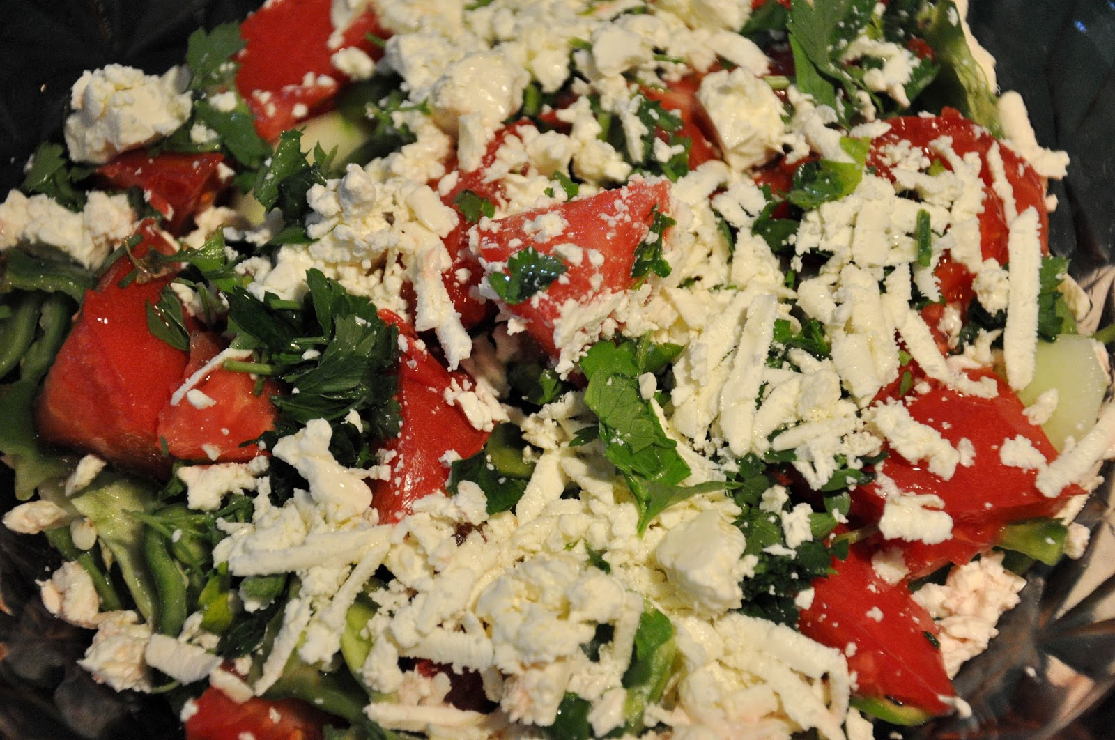Bulgarian Shopska salad - Шопска салата