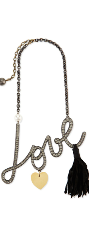 Lanvin Love Crystal necklace