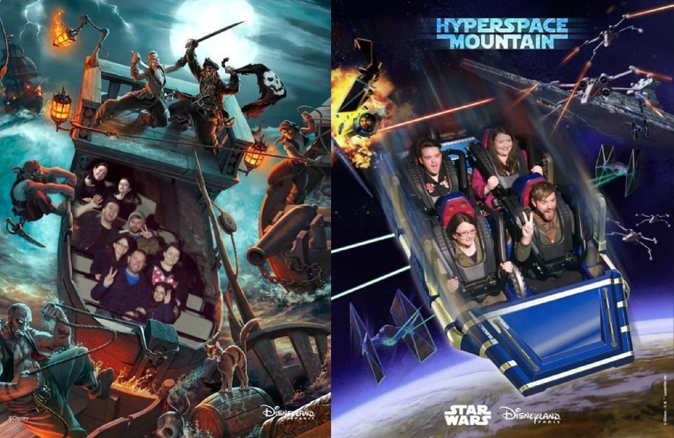 This is a picture of Disneyland Paris ride photos