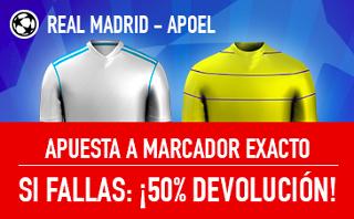 sportium promocion 25 euros Real Madrid vs APOEL champions 13 septiembre
