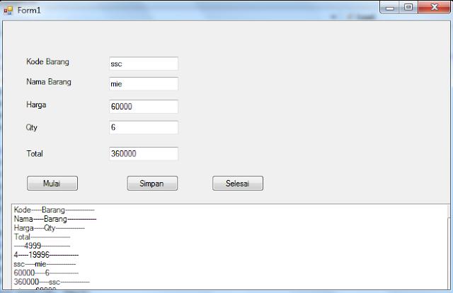 applikasi program penjualan barang sederhana menggunakan visual basic | JavaOne45